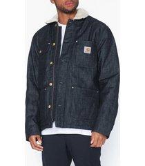 carhartt wip fairmount coat jackor blue