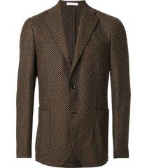 boglioli woven single breasted jacket - brown