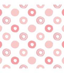 papel de parede adesivo bolinhas em rosa 2,70x0,57m - rosa - dafiti