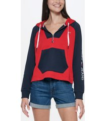 tommy jeans colorblocked hoodie