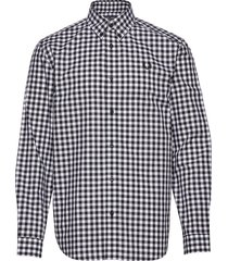 2 col. gingham shirt skjorta casual blå fred perry