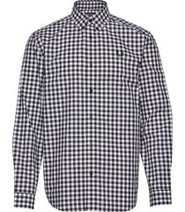 3 col. gingham shirt skjorta casual blå fred perry