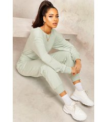 mix & match edition sweat jogger jumpsuit, sage