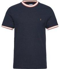 birmingham pique t-shirt t-shirts short-sleeved blå farah