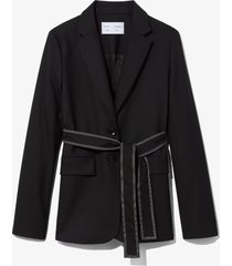 proenza schouler white label stretch suiting belted blazer /black 4