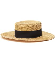 'gondolier' ribbon embellished wide brim squishee® flat hat