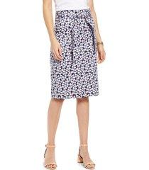 women's 1901 twill pencil skirt, size 16 - blue