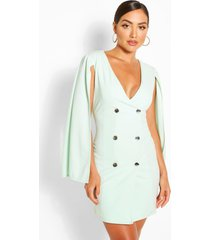 double breasted cape blazer dress, mint