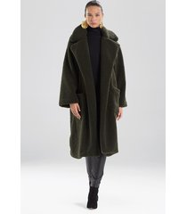 natori faux shearling jacket, women's, size l