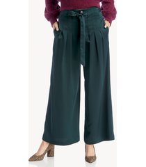 moon river women's pleated wide legs pants with waist tie in color: dark green size xs from sole society