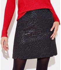 loft tall shimmer jacquard shift skirt