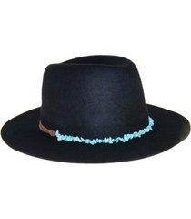 frye wool felt fedora with genuine turquoise band