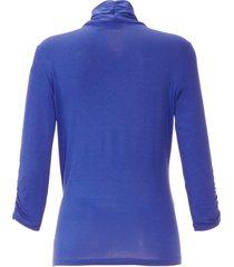 shirt met v-hals van peter hahn blauw