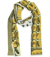 moschino clock wool scarf