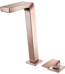 torneira para banheiro mesa bica alta vougan cobre escovado - 00884869 - docol - docol