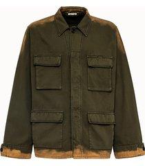 marni giacca in gabardina tie dye