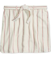 tommy hilfiger adaptive striped belted skirt