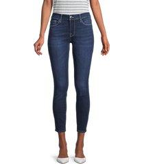 frame women's le skinny de jeanne cropped jeans - bonnet - size 32 (10-12)