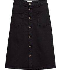 pzditte skirt knälång kjol svart pulz jeans