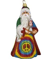 joy to the world glitterazzi tie dye santa with lava lamp ornament