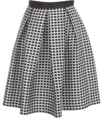 emporio armani pleated rigi skirt microcheck