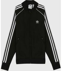 chaqueta negro-blanco adidas originals sst primeblu