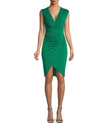 ruched tulip bodycon dress