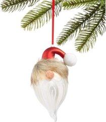 holiday lane christmas cheer glass santa hat, created for macy's