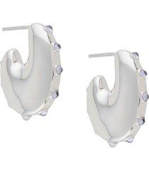 maria black caramella earrings - silver