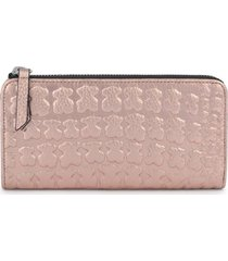 billetera mediana sherton rosa-oro de piel 095960203