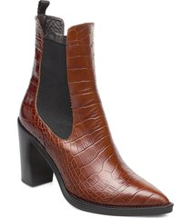 karen shoes boots ankle boots ankle boots with heel brun notabene