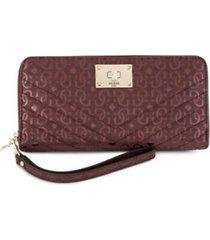 billetera mujer guess halley large zip around sg678046-rojo con envio gratis