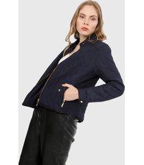 chaqueta azul oscuro active