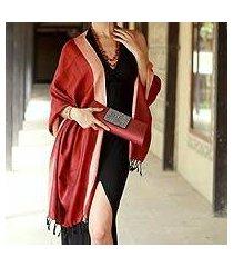 silk shawl, 'bhagalpur sunshine' (india)