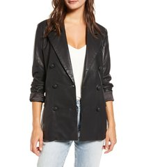 women's blanknyc faux leather blazer