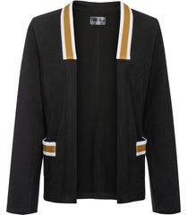 blazer in jersey con applicazioni a contrasto (nero) - rainbow
