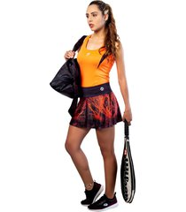 falda dama con fit interno naranja mia r-7802