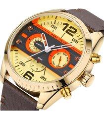 reloj mini focus mf0068g-6 para hombre amarillo