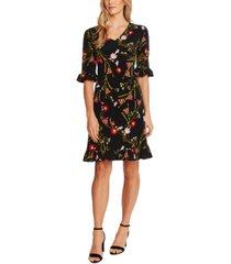 cece floral-print flounce dress