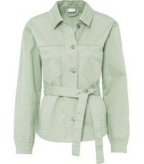 giacca in cotone biologico con cintura (grigio) - bodyflirt