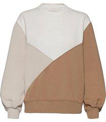 anf womens sweatshirts sweat-shirt tröja beige abercrombie & fitch