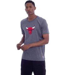 camiseta nba estampada vinil chicago bulls cinza - kanui
