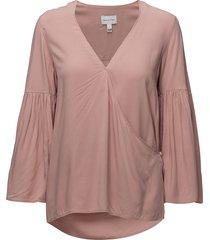 r2. wrap blouse blouse lange mouwen roze gant