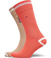 th men sock 2p crest underwear socks regular socks orange tommy hilfiger
