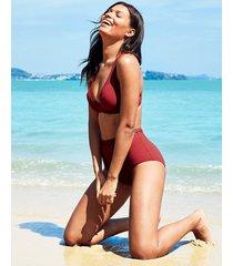icon milan underwire plunge high apex ladder bikini top d-gg