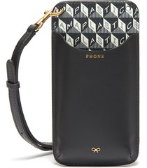 'i am a plastic bag' anagram print eco leather phone pouch