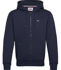 tjm regular fleece zip hoodie hoodie trui blauw tommy jeans