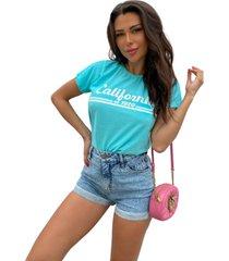 blusa in love t-shirt california azul