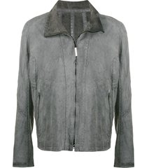 isaac sellam experience experience funnel-neck jacket - grey