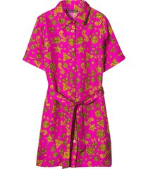 young versace fuchsia dress with press